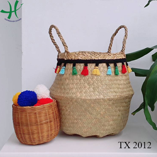 5eaacfecea52 TX 2016. Item No  TX 2016. Belly Seagrass Basket Foldable Seagrass Basket